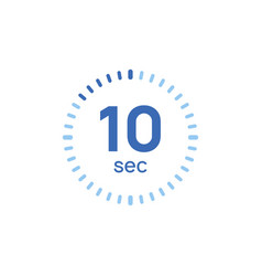 10 second timer clock 10 sec stopwatch icon vector