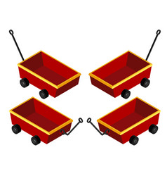 3d design for red wagons vector