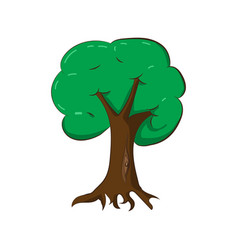 A green tree vector