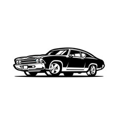american muscle car monochrome isolated vector image