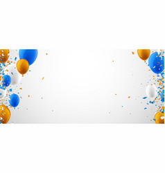 background with balloons and confetti vector image