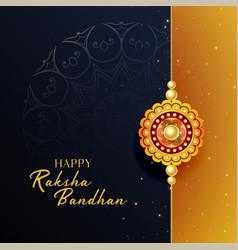 Beautiful raksha bandhan festival greeting vector