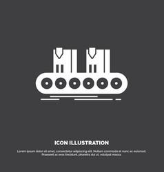 belt box conveyor factory line icon glyph symbol vector image