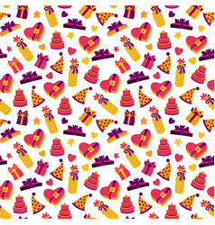 birthday party background birthday pattern vector image