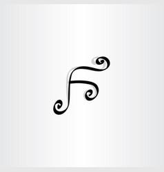 black f letter symbol design logotype vector image