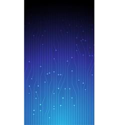 Blue gradient circuit board design iphone vector