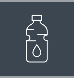 bottle water related thin line icon vector image