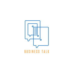 business talk icon concept design template vector image