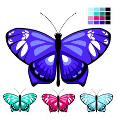 butterfly set 9 vector image
