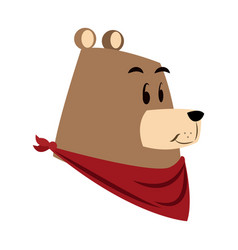 Cartoon bear forest animal characters vector