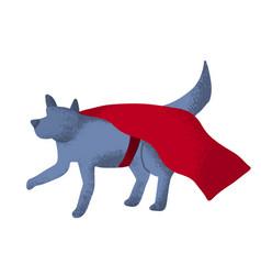 cartoon superhero dog in fun pose vector image