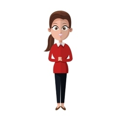 Cartoon woman business manager occupation vector