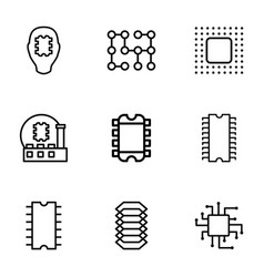 circuit icons vector image
