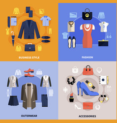 clothes flat concept vector image