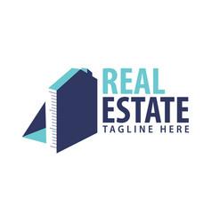 Construction realestate building logo design vector