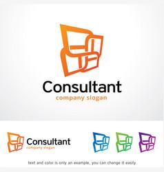 Consultant logo template design vector