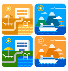 cruise and hotel resort vector image