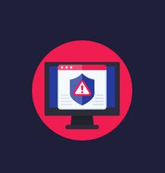 Cyber attack alert icon vector