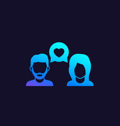 Dating love chat vector