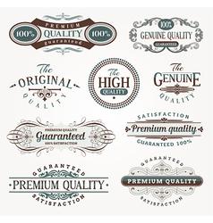 Decorative labels quality vector