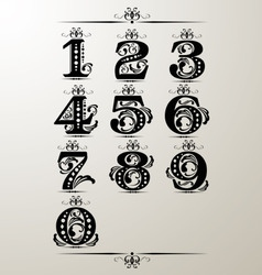 Decorative number element vector