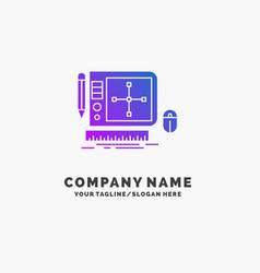 Design graphic tool software web designing purple vector