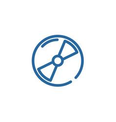disk line color icon vector image