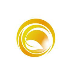 ecology logo eco world green leaf energy saving vector image