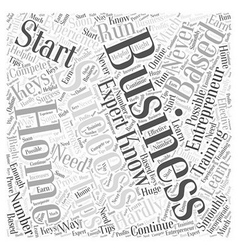 entrepreneur home based business Word Cloud vector image