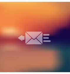 Envelope icon on blurred background vector