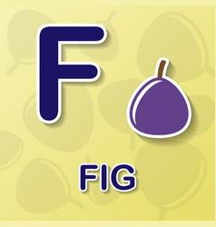 Fig alphabet background vector