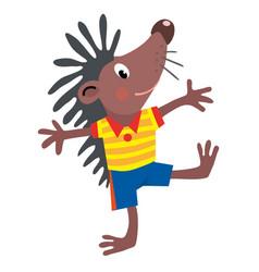 Funny little hedgehog vector