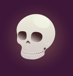 game icon skull vector image