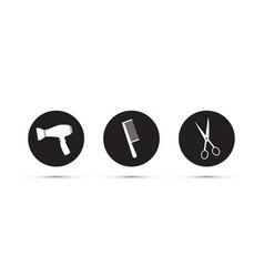 hair dressers salon icons vector image