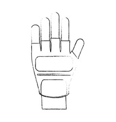 hand wearing gloves icon image vector image