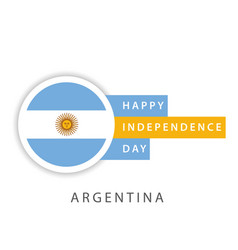 Happy argentina independence day template design vector