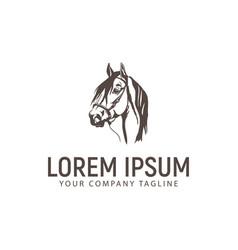 head horse logo vintage design concept template vector image