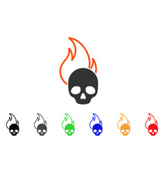 hell fire icon vector image