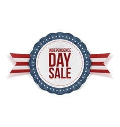 Independence Day Sale realistic Banner vector image