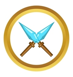 Kunai ninja throwing dagger icon vector