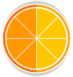 Lemon Orange Fruit Flat Icon yellow ripe orange vector image