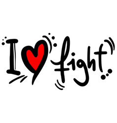Love fight vector