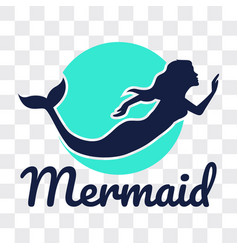 Mermaid isolated on transparent background vector