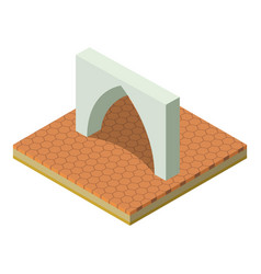 Muslim arch icon isometric style vector