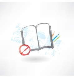 No book grunge icon vector image