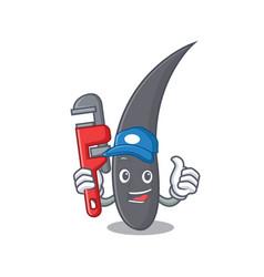 Plumber hair mascot cartoon style vector