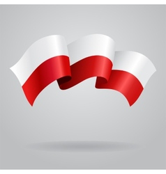 Polish waving Flag vector image