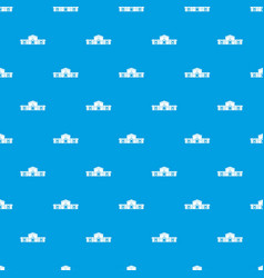Railway station building pattern seamless blue vector