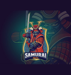 samurai esports logo for your team vector image