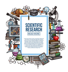 Scientific research poster with study attributes vector